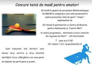 În premieră la CRAT # Concurs la tenis de masă