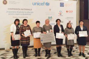 """Conferința Națională """"Asigurarea dreptului la educație pentru copiii cu dizabilități"""" Gala Educației Incluzive 2018"""