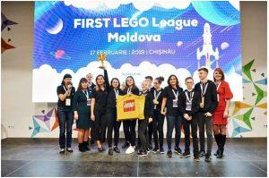 """Liceul Teoretic ,,George Coșbuc"""" din mun. Bălți la competiția națională de robotică FIRST LEGO League Moldova"""