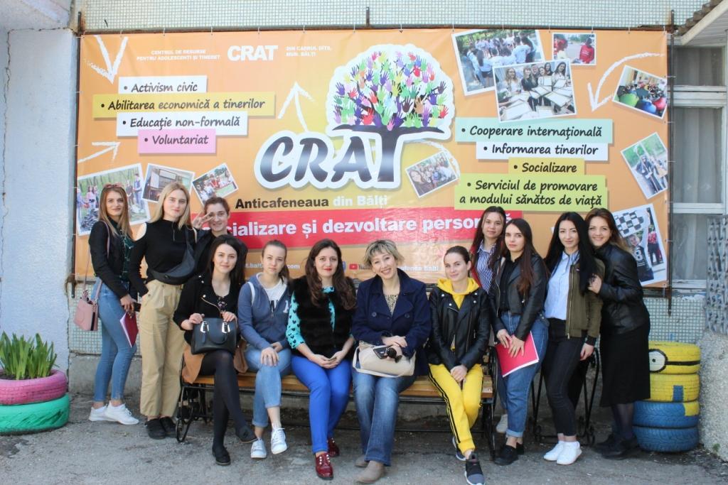 Studenții de la specialitatea Psihologie la CRAT # spațiul de socializare Anticafeneaua din Bălți