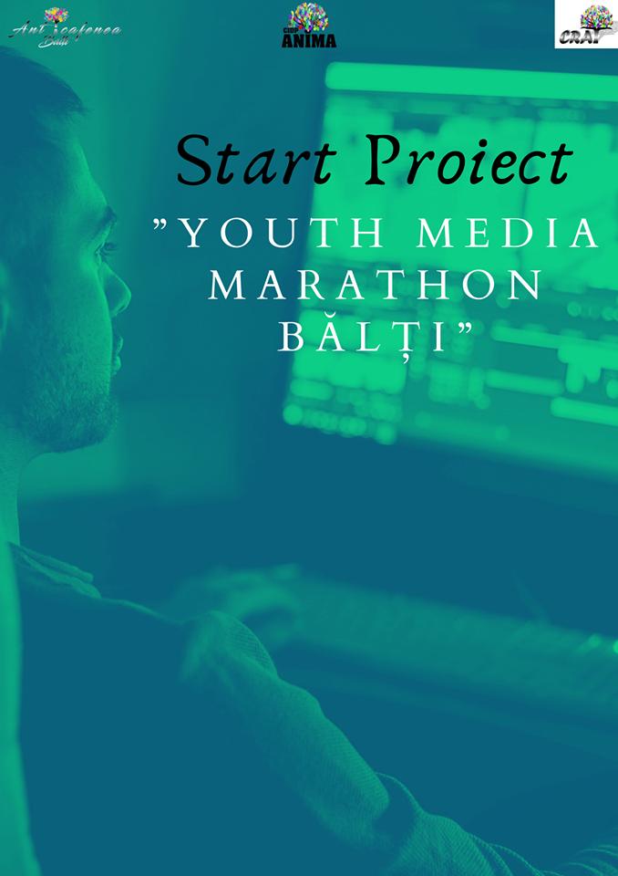 """#CRAT partener în cadrul Proiectului """"Youth Media Marathon Bălți"""""""