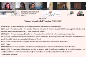 """#Forumul Municipal 2020 """"Serviciile de tineret din perspectiva necesităților tinerilor"""" la CRAT"""