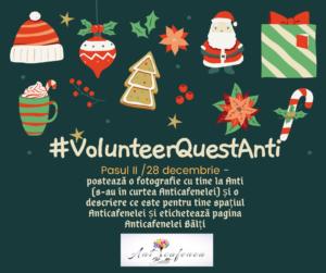 În premieră la CRAT #VolunteerQuestAnti